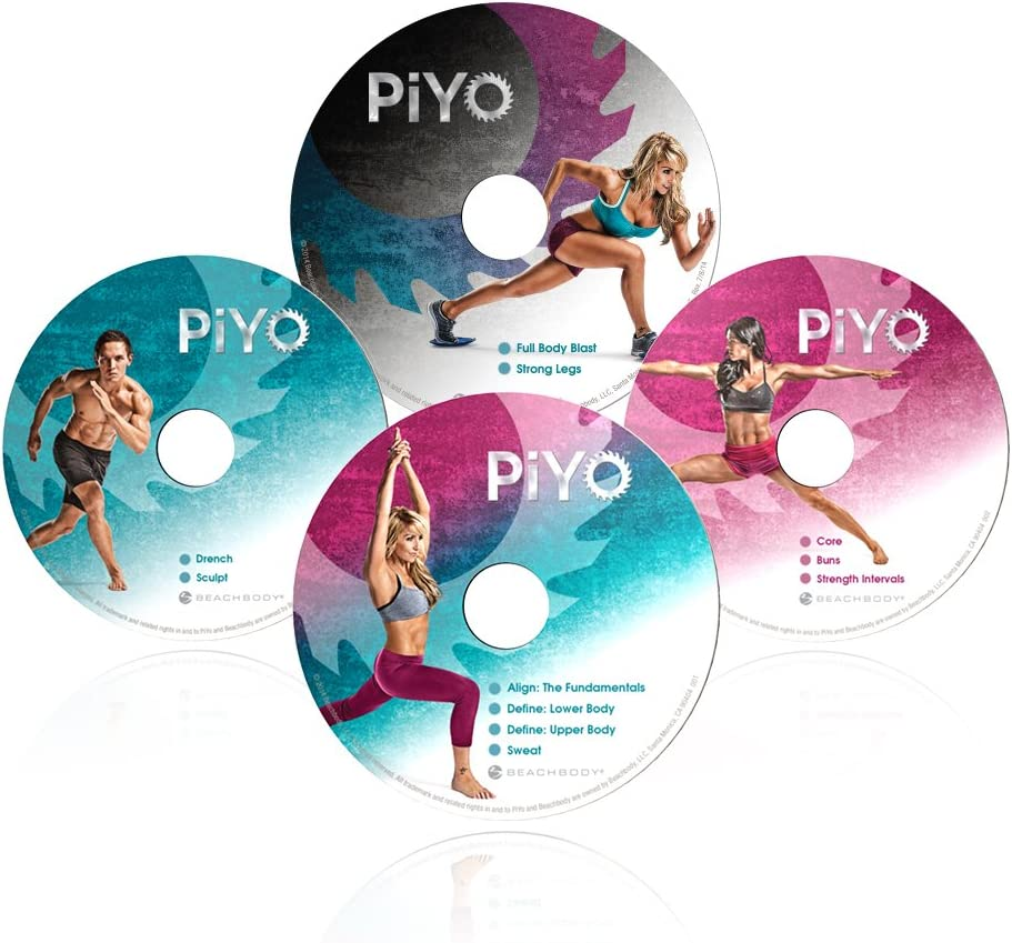 Chalene Johnsons PiYo Deluxe Kit - DVD Workout with Exercise Videos + Fitness Tools and Nutrition Guide