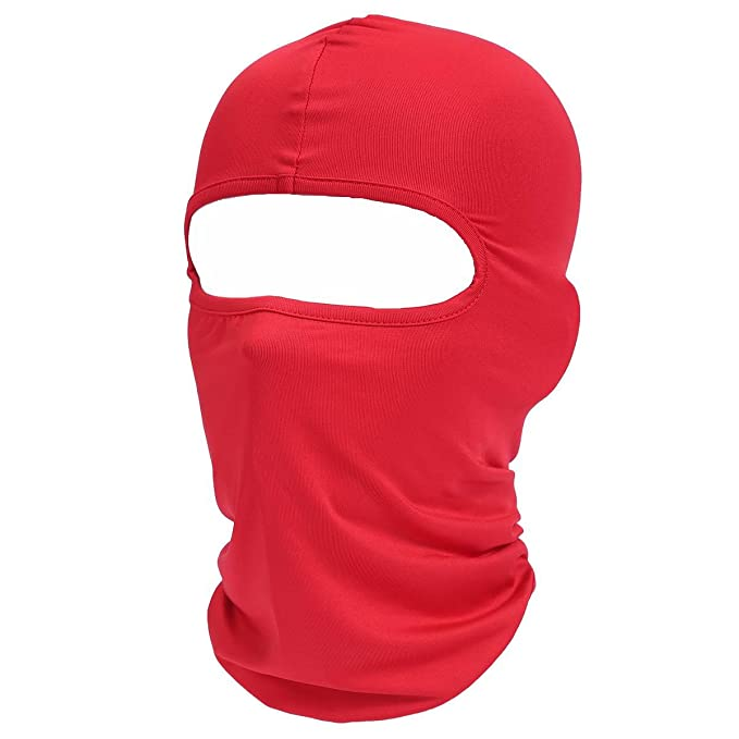 Pasamontañas clásico de licra, de Xiabing, ligero, se puede usar como máscara de esquí, para motocicleta, con casco de deportes
