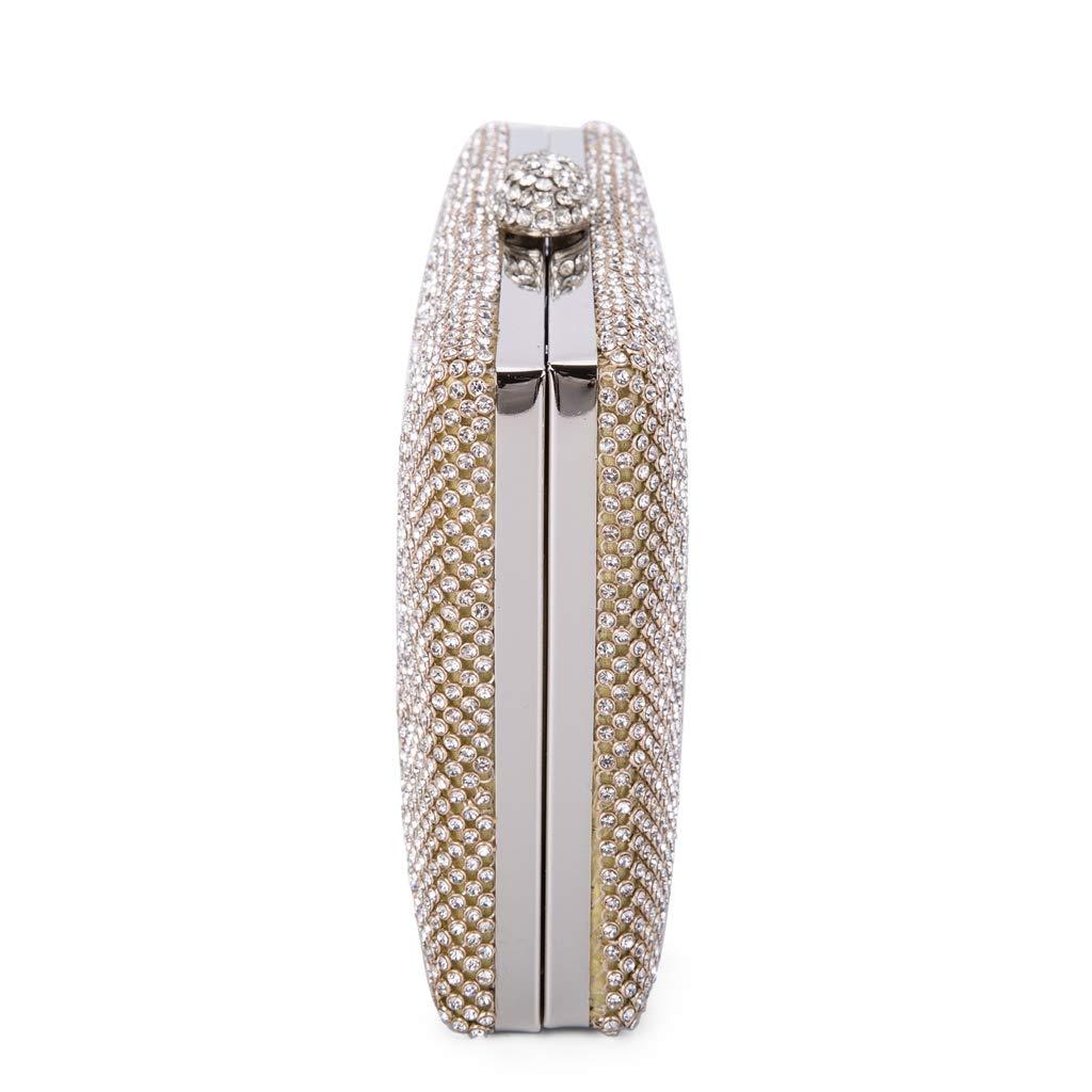 BAIGIO Sac de Soir/ée Femme Pochette Sac /à Main en Bandouli/ère Cha/îne D/émontable /à Diamants Argent
