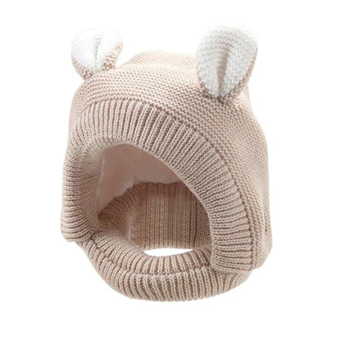 Hunpta Hunpta Mode Baby Warm süß Ohr Kinder Hut häkeln (Beige) Mütze ...