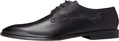 Marca Amazon - find. Zapato de Cordones Piel Grabada para Hombre