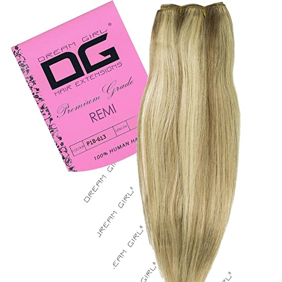 Dream Girl 18 Inch Colour 18613 Remi Weft Hair Extensions Amazon