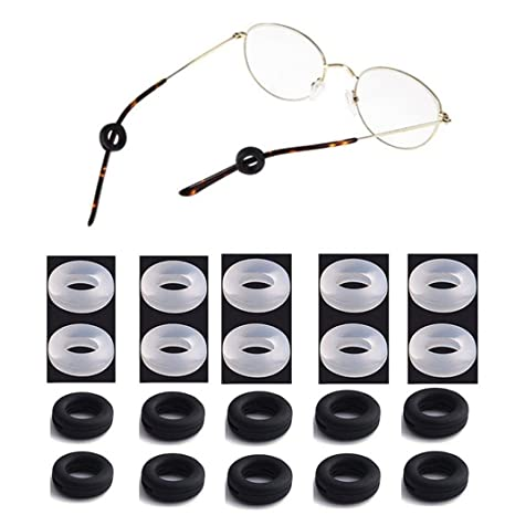 a4599867c00 LiPing Silicone Eyeglasses Temple Tips Sleeve Retainer
