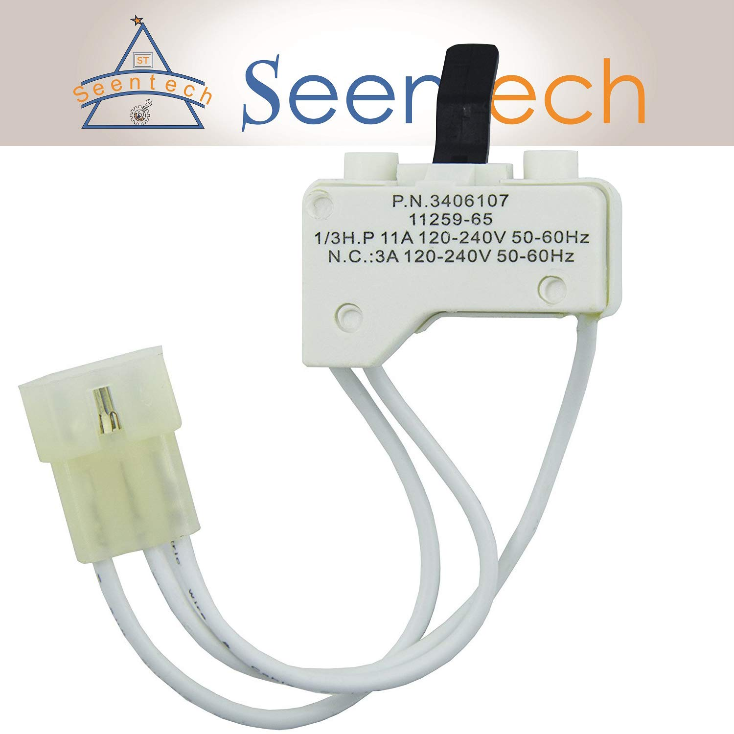 3406107 Dryer Door Switch Replacement by Seentech Exact for Kenmore & Whirlpool Dryers - Replaces Part Numbers 3406101, 3406109, PS11741701, AP6008561,WP3406107, 3405100, 3405101, 3406100