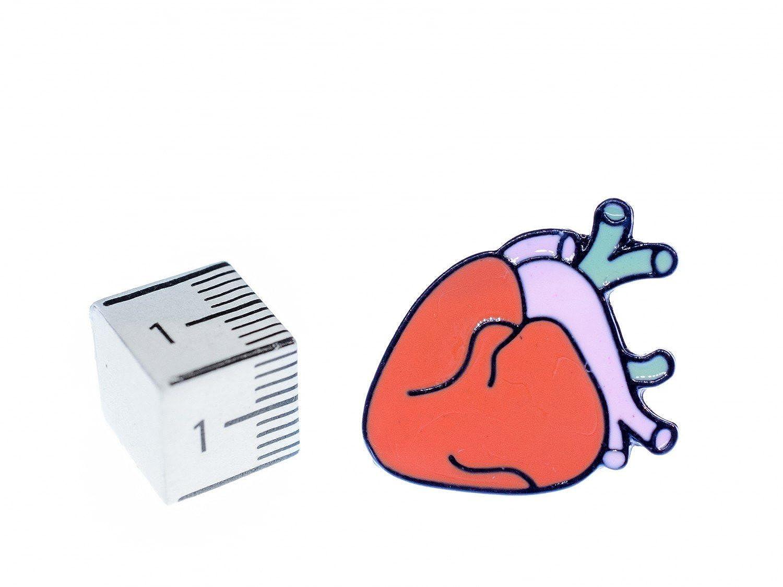 Miniblings Herz Brosche Anstecknadel Anatomie Mensch Medizin Organ ...