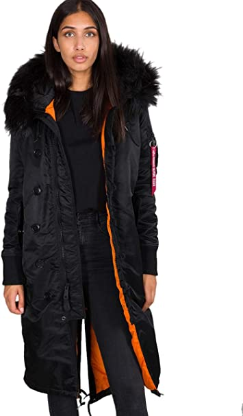 Alpha Industries Damen Wintermantel Long Fishtail Amazon De Auto