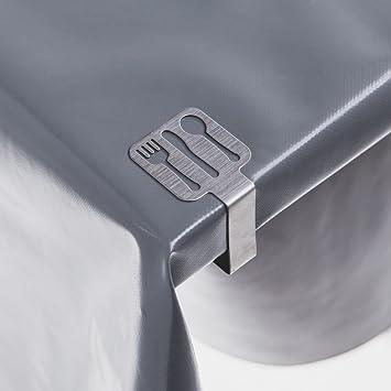 4 pieza mesa sujetamanteles Cutlery Mantel grapas de acero ...