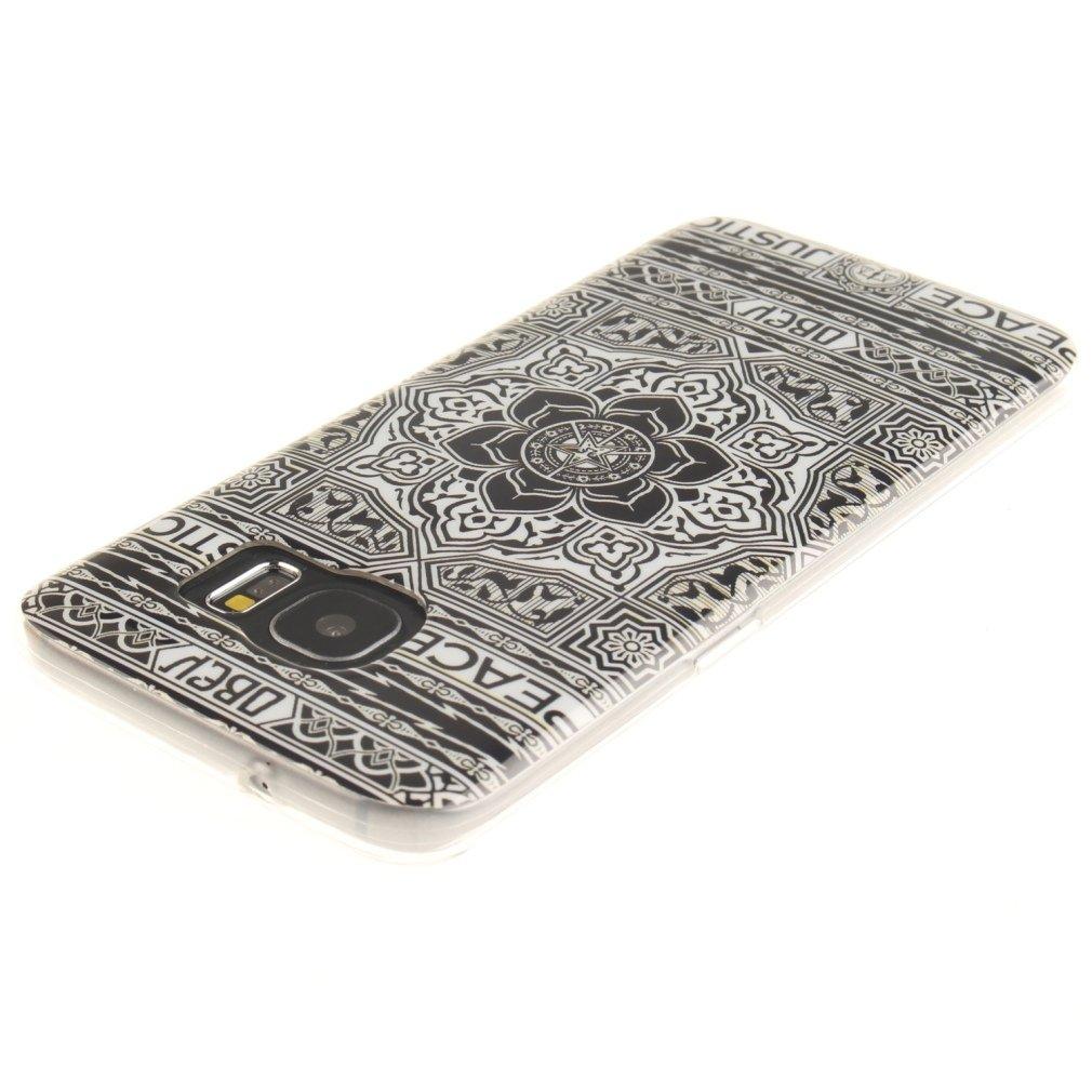 Ultra-Delgado OUJD Funda Samsung S7 Edge Anti-Rasgu/ño Patr/ón Carta Galaxy S7 Edge Carcasas Anti-Est/ático Totalmente Protectora Cover para Samsung Galaxy S7 Edge TPU Silicona Case