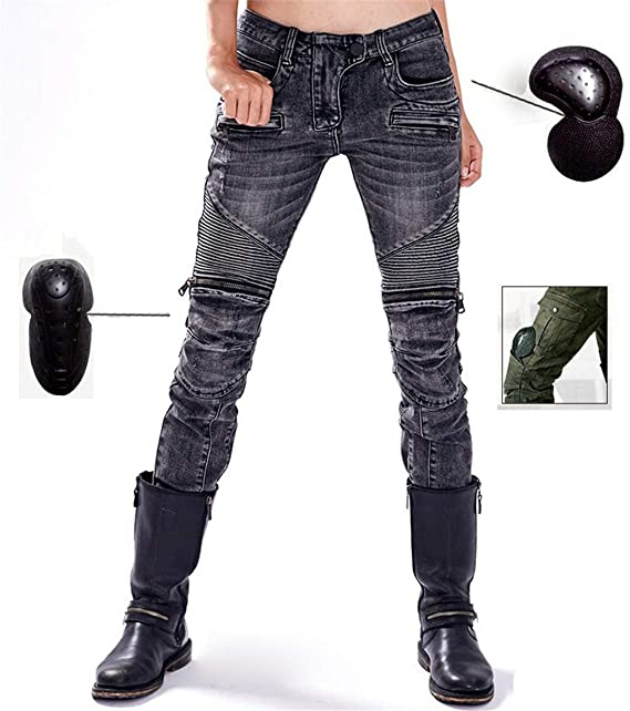 Amazon.com: Protect XIMIO Women Motorcycle Jeans Retro ...