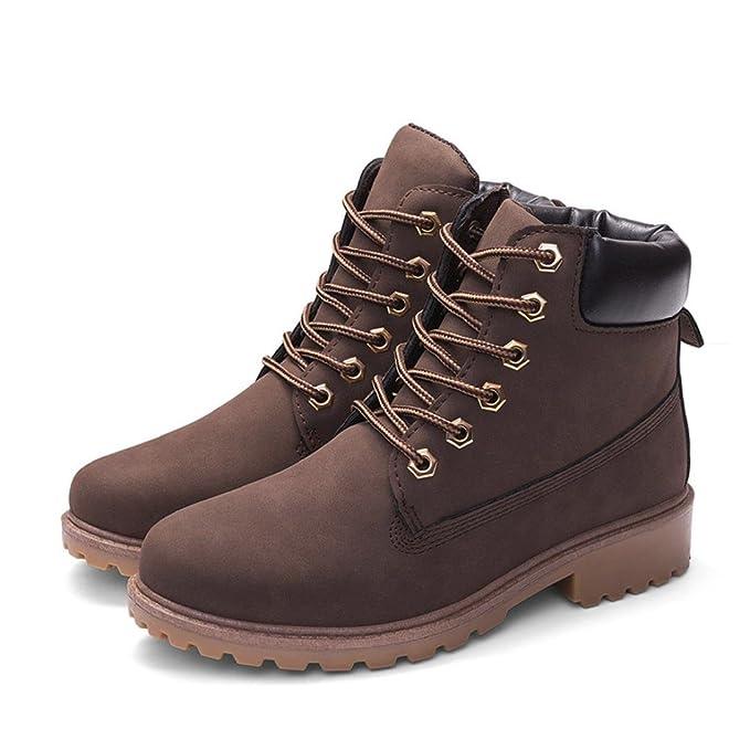Zapatos de Mujer Señoras Martín Botas Faux Corto Casual Suave Antideslizante Nieve Zapatos Botines LMMVP (38, C): Amazon.es: Hogar
