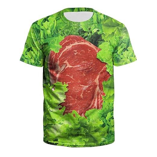 ManY Funny Camisetas Impresión Digital 3D Traje de Pareja de ...
