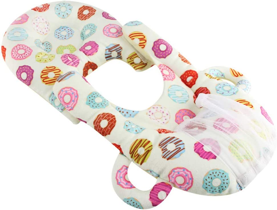 Detachable Baby Sleep Pillow Baby Pillow Hands Free Newborn Bottle Rack,Multifunctional Portable Breastfeeding Pillow Color:Donuts
