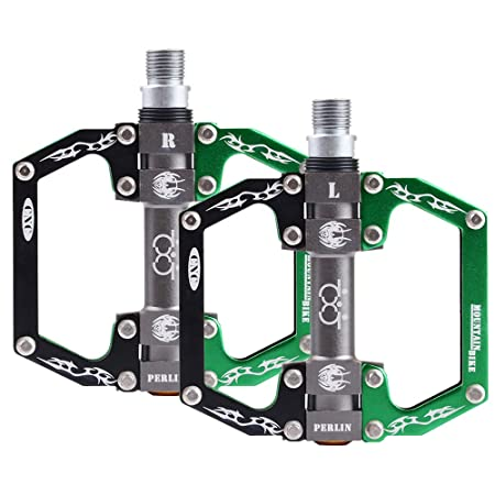 Boruizhen Mountain Bike Pedals CNC Sealed Bearing Aluminium Alloy Flat Pedals 9 16 Cycling Pedals for BMX MTB Bike
