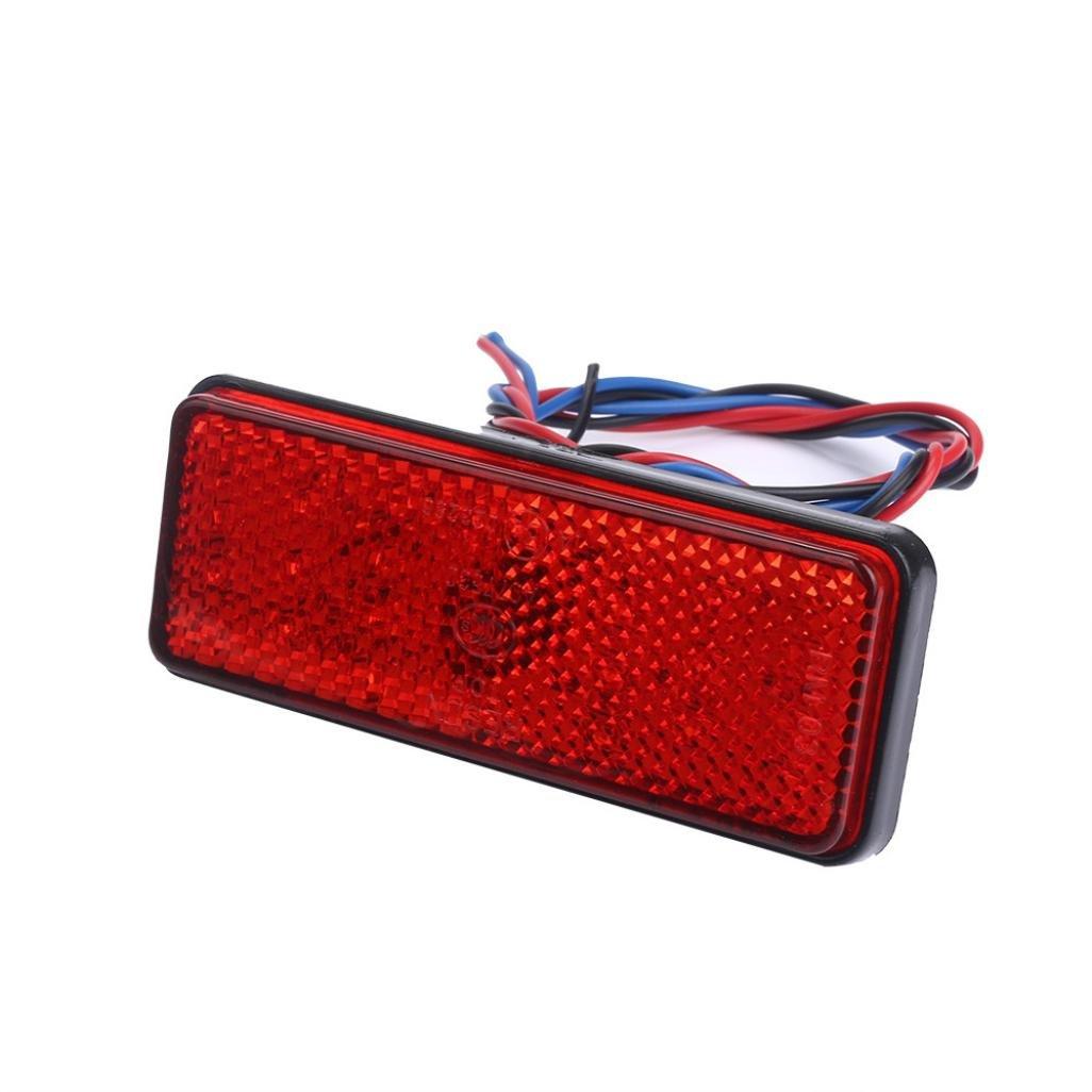 TONSEE 2x Universal Car ATV SUV 12V Red 24 LED Stop Fog Tail Brake Light Lamp Bulb TONSEE_A7594