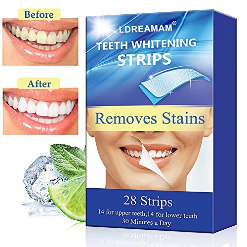 Teeth Whitening Strips,Teeth Bleaching,Teeth Whitening Kit,Teeth Whitening Zero Peroxide Strips Advanced Double Elastic Gel Strips Kit 28 Pcs 14 Treatments for Teeth Care,Mint Flavor