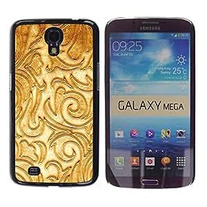 Be Good Phone Accessory // Dura Cáscara cubierta Protectora Caso Carcasa Funda de Protección para Samsung Galaxy Mega 6.3 I9200 SGH-i527 // Floral White Fancy Texture Relief