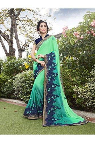 Verde Tradizionale Indiani Partito Facioun Donne Di Sari Nozze Le Da 106 Sari Per Etnica Indossare Progettista w6qEEOF