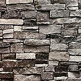 Blooming Wall Faux 3D Stone Brick Wall Mural 3D Wallpaper Vinyl for Livingroom Bedroom, 20.8 In32.8 Ft=57 Sq.ft. (5705)