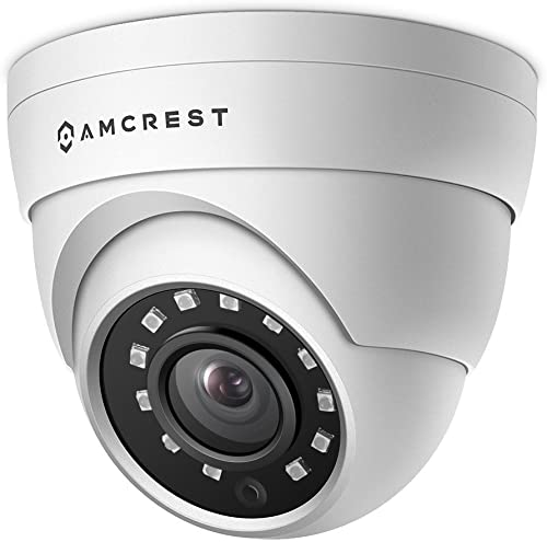 Amcrest UltraHD 4MP HD-Analog Dome Outdoor Security Camera, 4MP 2688×1520, 65ft Night Vision, IP67 Weatherproof Metal Housing, 2.8mm Lens, 99.7 Viewing Angle, 4MP 15fps, White AMC4MDM28-W
