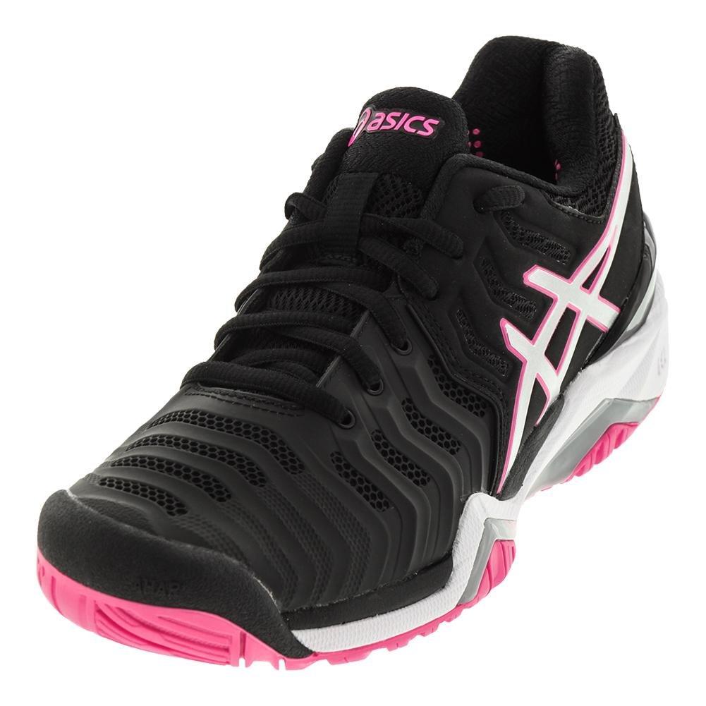 ASICS Women's Gel-Resolution 7 Tennis Shoe B07121FGHN 7.5 B(M) US|Black/Silver/Hot Pink