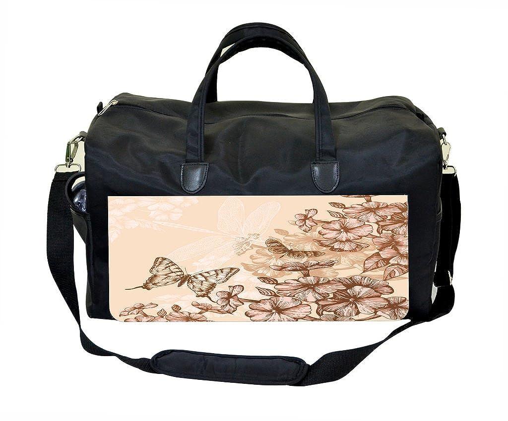 Weekender Bag Pretty Flowers and Butterflies
