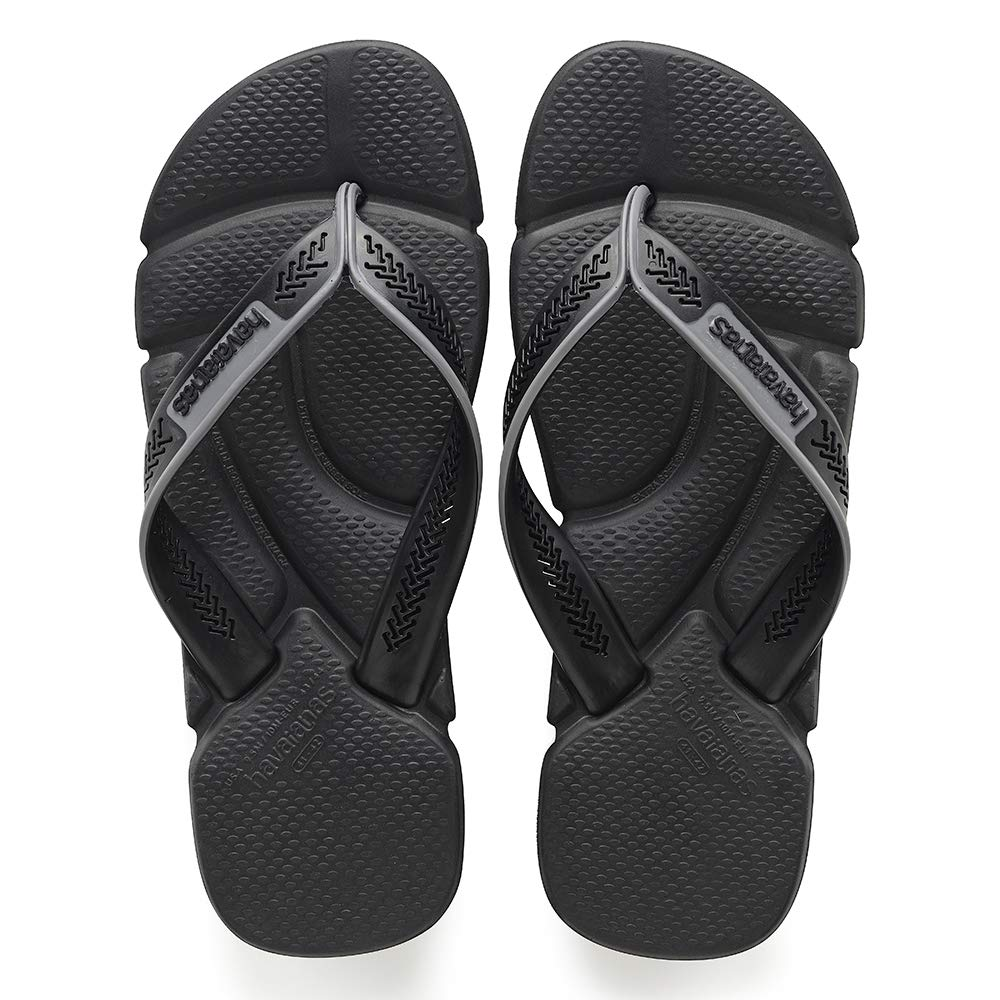 Havaianas Power, Chanclas para Hombre, Negro (Black/Steel Grey), 47/48 EU