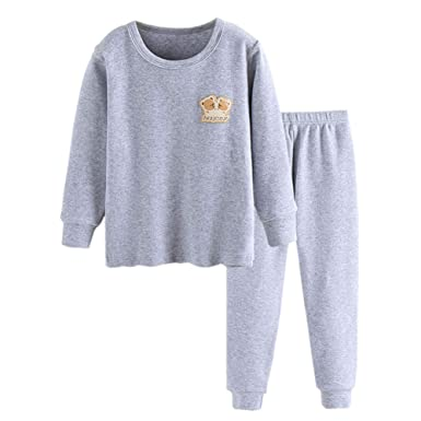 b95555d56 Amazon.com  JWWN Little Boys Girls Pajamas 2PCS Thermal Underwear ...