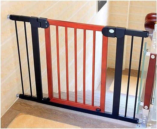 Barrera De Seguridad for Niños Madera Maciza Cerca De La Cocina Escalera Puerta De Seguridad Valla De Aislamiento for Mascotas Extensible, 2 Colores (Color : B, Size : 132-139cm): Amazon.es: Hogar