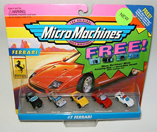 Micro Machines #7 Ferrari with Micro Machines - Ferari Yellow