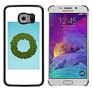 Paccase / SLIM PC / Aliminium Casa Carcasa Funda Case Cover para - Wreath Christmas Holidays Winter Santa - Samsung Galaxy S6 EDGE SM-G925