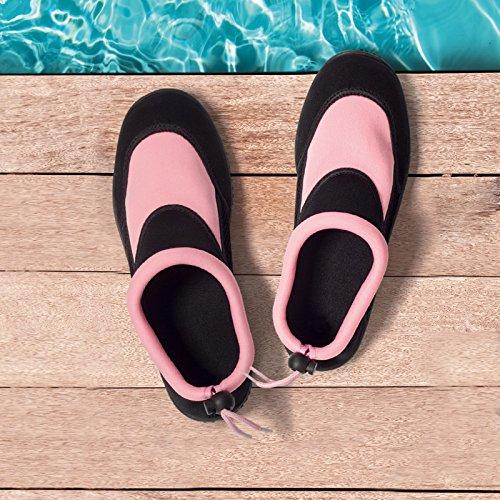 Donna Gr Nuoto D'acqua Beachschuhe Sport Surf Scarpe Acqua Tgl Da Spiaggia 41 Per Nero Ragazza Ginnastica 36 Antico Pantofole Rosa Neoprene dCgnqf