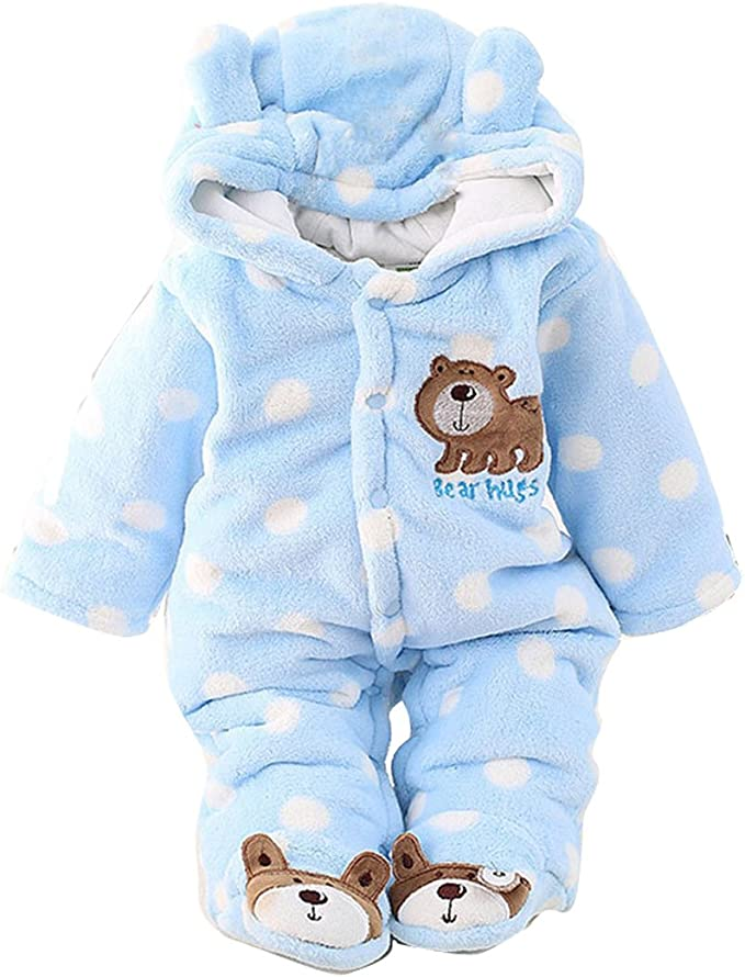 Bear Bodysuits Hooded Gender neutral CoverallsOverallsRomperJumpsuits for Newborn Baby Coming Home Outfit Set Winter Fall Crochet Knit