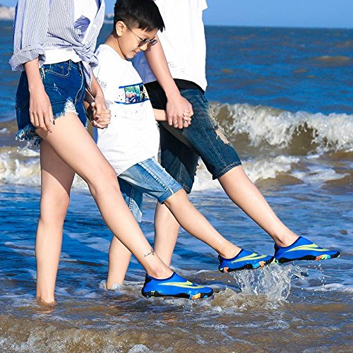 Boy Men Aqua Shoes Bigood Lovers Socks Water Outdoors Sports Women Girls Blue EUxxwq0