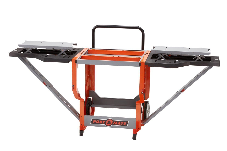 Portamate PM-8000 Portacube STR Miter Saw Work Station, Orange/Black