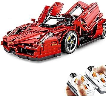Dittzz Technic Auto Ferrari Enzo 1 10 2 4ghz Rc Auto Bauset Mit Motor Und Fernbedienung 2615stücke Bausteine Kompatibel Mit Lego Technic Amazon De Spielzeug