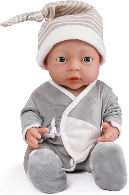 Vollence 16 Inch Realistic Reborn Baby Doll Pvc Free Solid Platinum Liquid Full Body Silicone Real Baby Dolls Lifelike Soft Handmade Silicone Baby Doll With Clothes Amazon Ca Toys Games
