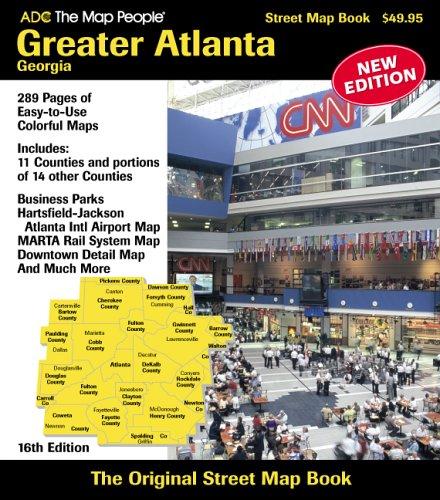 ADC The Map People Greater Atlanta, Georgia Street Map Book