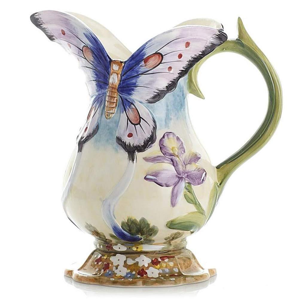 セラミック花瓶用花緑植物結婚式植木鉢装飾ホームオフィスデスク花瓶花バスケットフロア花瓶ヨーロッパスタイル B07RM4SJDJ