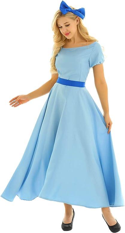 inlzdz 3 Piezas Vestido de Fiesta de Princesa Wendy Disfraces de ...