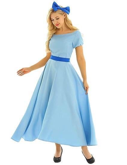 YiZYiF Disfraz Halloween Mujer Chica Vestido Princesa Peter ...