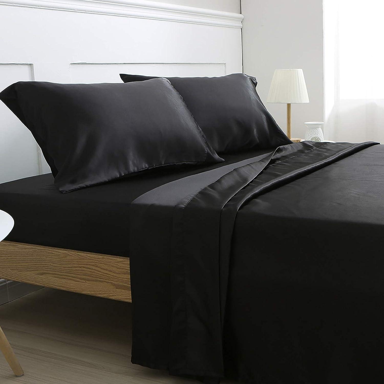 Amazon.com: Vonty Satin Sheets King Size Silky Soft Satin Bed