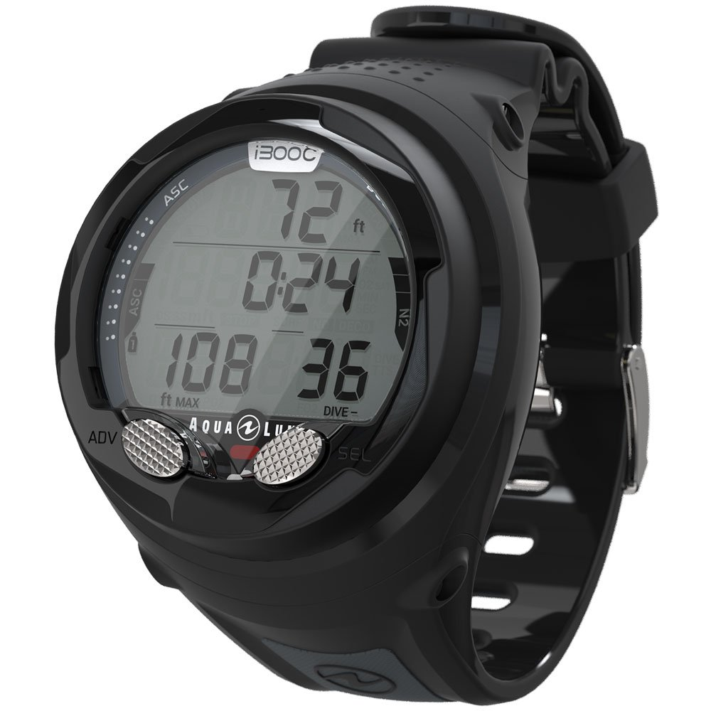 Aqua Lung I300c Wrist Dive Computer with Bluetooth Black/Grey by Aqua Lung