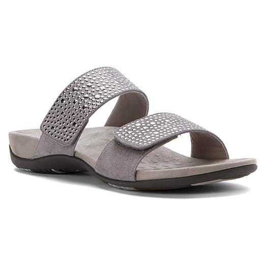 Vionic Womens Samoa Slide Sandal Pewter 9 / W