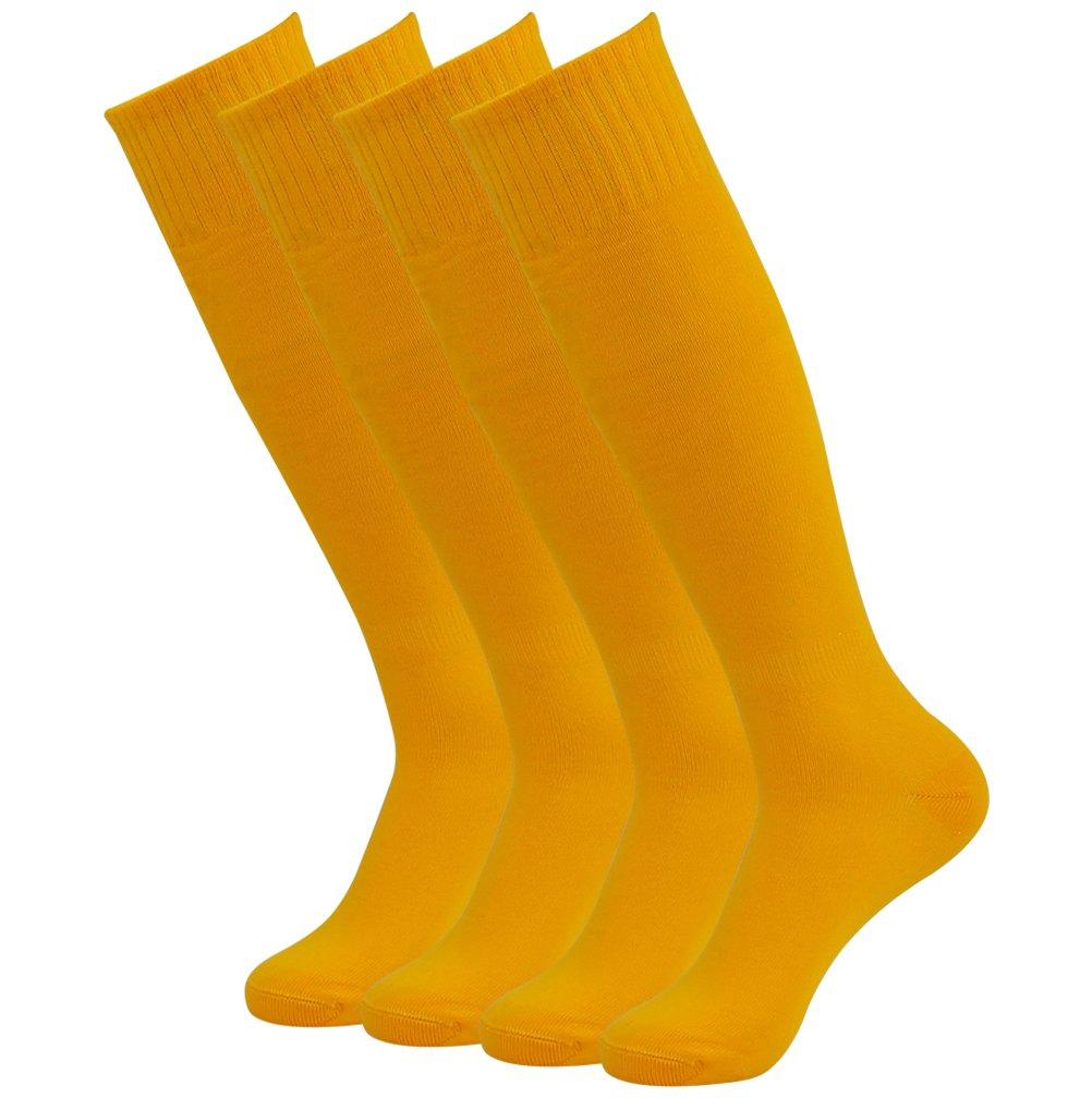 Feelingway SOCKSHOSIERY メンズ B076ZPR2TD 4 Pairs-orange 4 Pairs-orange