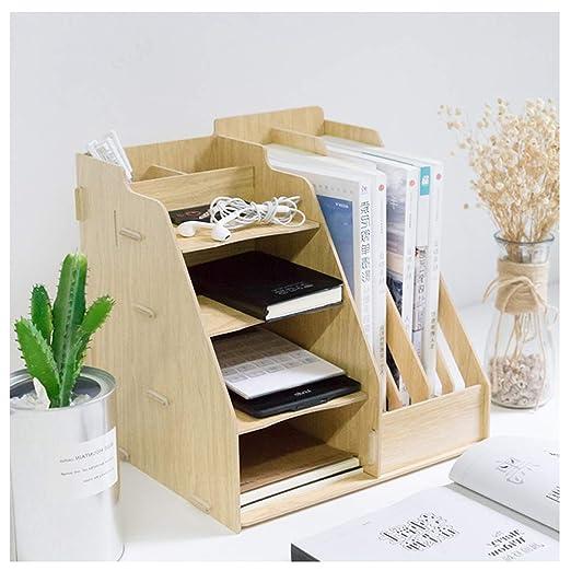 Organizador de escritorio, gestor de escritorio de madera ...
