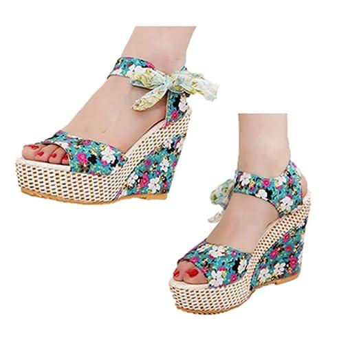 87fda7896c7f7 Amazon.com: Gyouanime Thick Bottom Sandals Shoes Womens High Heel ...