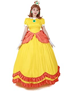 Amazon Com Miccostumes Women S Princess Daisy Tennis Outfit Cosplay