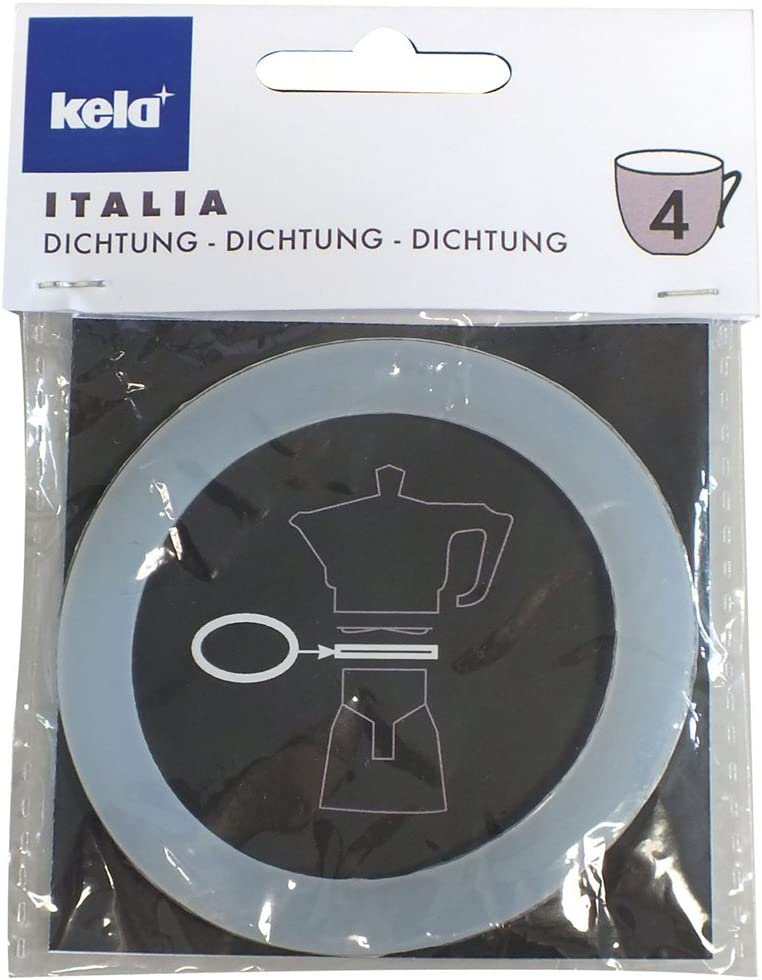 Aluminium Silber 8 x 8 x 0.5 cm kela Ersatzdichtung Italia f/ür 10591