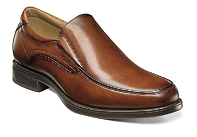 Florsheim Men's Midtown Moc Toe Slip On,Cognac Smooth Leather,US 7.5 3E