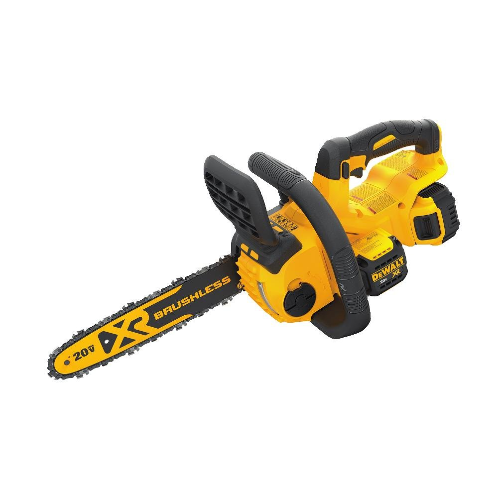 DEWALT DCCS620P1 20V MAX Lithium-Ion XR Brushless Compact 12 in. Cordless Chainsaw Kit 5AH